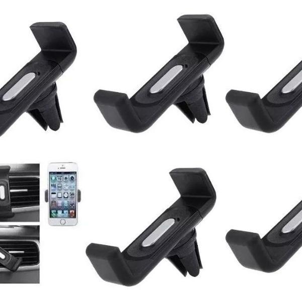 Kit 5 suporte celular veicular ar condicionado universal