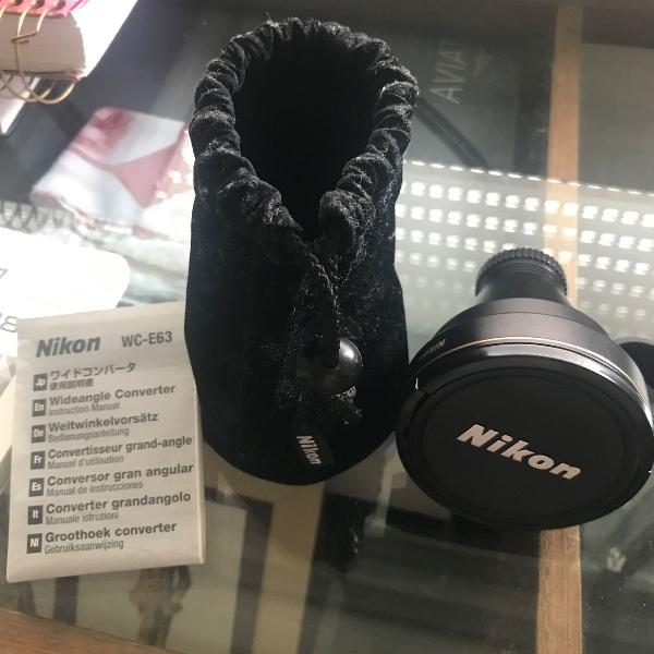 Lente nikon wc-e63 wideangle converter