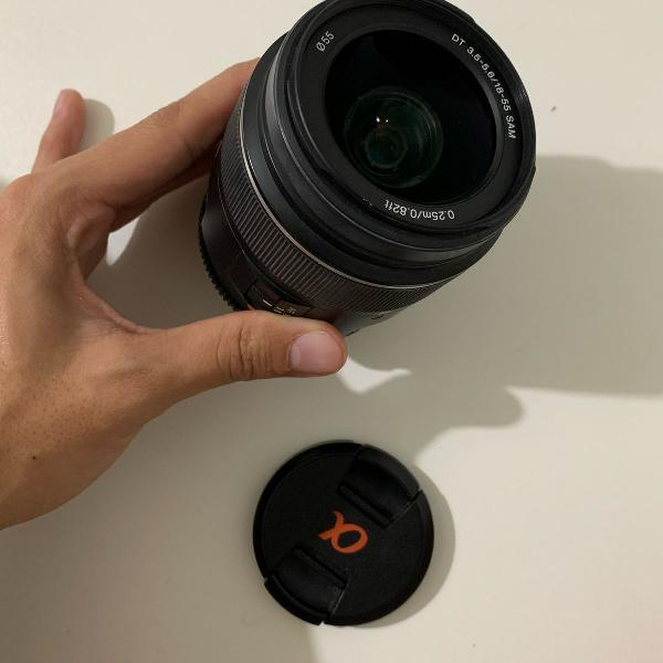 Lente sony alpha 18-55 mm
