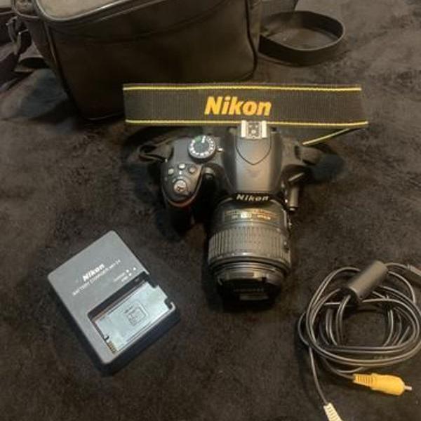 Nikon d3200 câmera digital slr com lente nikkor vr 18-55mm