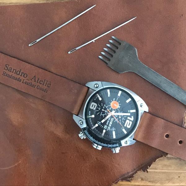 Pulseira de relógio em couro legítimo