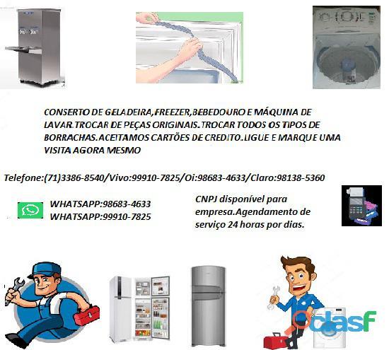 Refrigeração conserto de geladeira,freezer e etc...bebedouro