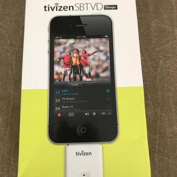 Tivizen sbtvd receptor tv digital iphone ipad ipod dongle