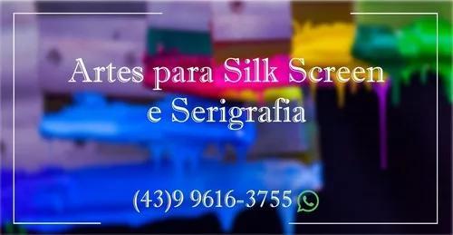 Artes para silk screen e serigrafia
