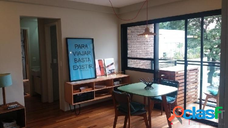 Apartamento mobiliado para venda - cond. gr living design - vila madalena