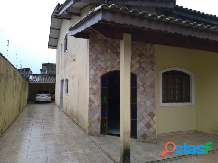 Amplo sobrado semi novo 3 dormitórios-300 m mar- cibratel 1 -itanhaém-sp