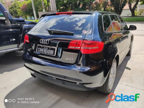 Audi a3 sportback 2.0 16v tfsi s-tronic preto 2010 2.0 gasolina