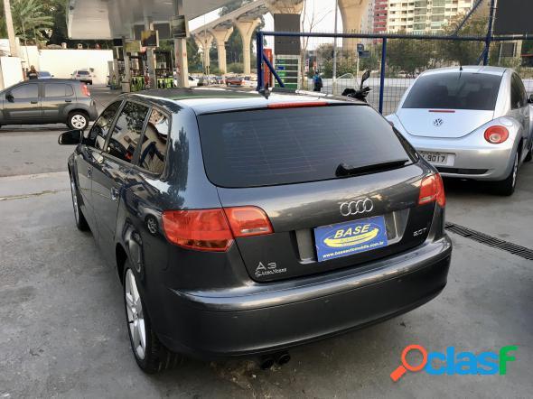 Audi a3 sportback 2.0 16v tfsi s-tronic cinza 2008 2.0 t gasolina