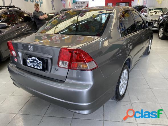 Honda civic sedan lxlxl 1.7 16v 115cv aut. 4p cinza 2004 1.7 gasolina