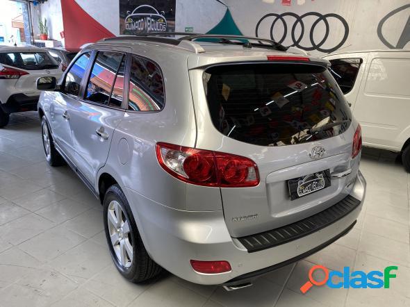 Hyundai santa fe gls 2.7 v6 4x4tiptronic prata 2009 2.7 gasolina