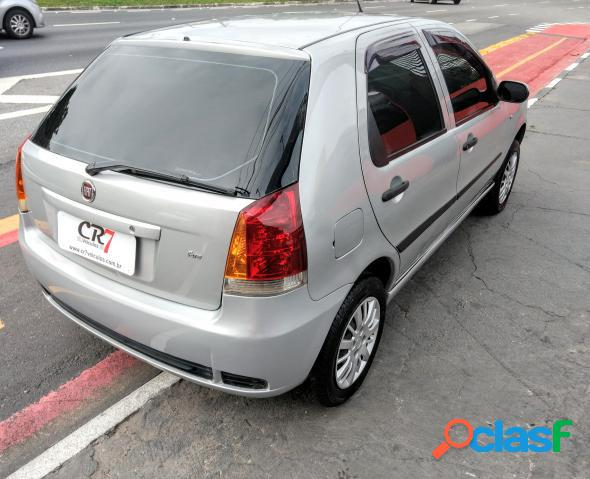 Fiat palio 1.0 economy fire flex 8v 4p prata 2010 1.0 flex