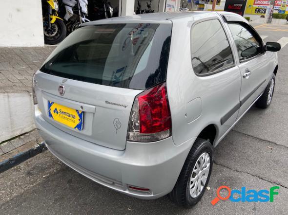 Fiat palio 1.0 economy fire flex 8v 2p prata 2011 1.0 flex