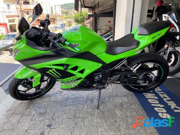 Kawasaki ninja 300 verde 2013 300 gasolina