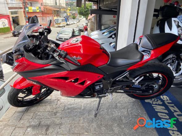 Kawasaki ninja 300 vermelho 2017 300 gasolina