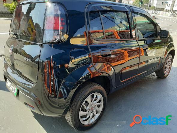 Fiat uno drive 1.0 flex 6v 5p preto 2018 1.0 flex