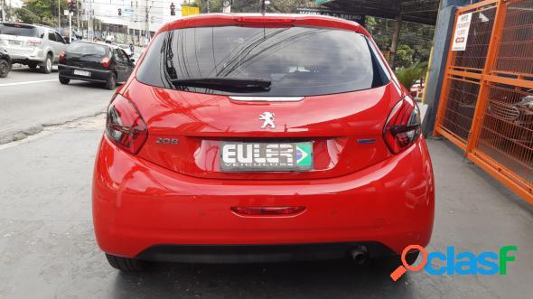 Peugeot 208 allure 1.2 flex 12v 5p mec. vermelho 2018 1.2 flex