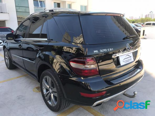 Mercedes-benz ml-320 3.0 v6 224cv 4x4 diesel preto 2009 3.0 gasolina