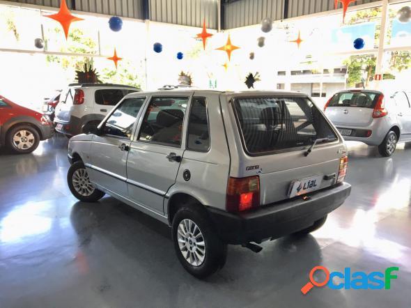 Fiat uno mille mille ex smart 4p prata 2003 1.0 gasolina