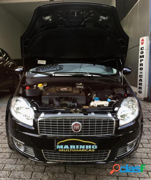 Fiat linea lx flex cambio manual completo com apenas 35.000km preto 2010 1.9 flex