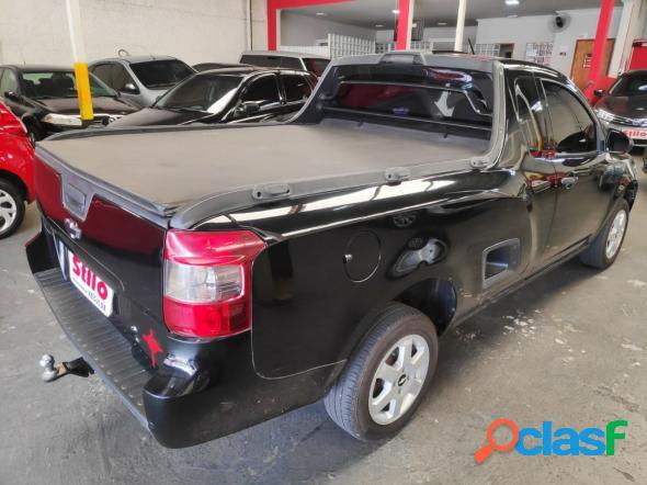 Chevrolet montana ls 1.4 econoflex 8v 2p preto 2015 1.4 flex