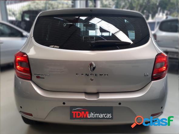 Renault sandero expression hi-power 1.6 8v 5p prata 2017 1.6 flex