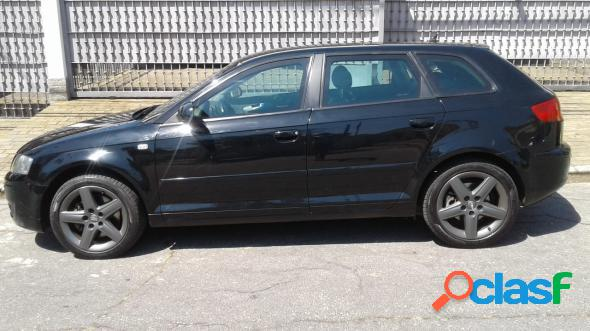 Audi a3 sportback 2.0 16v tfsi s-tronic preto 2007 2.0 gasolina