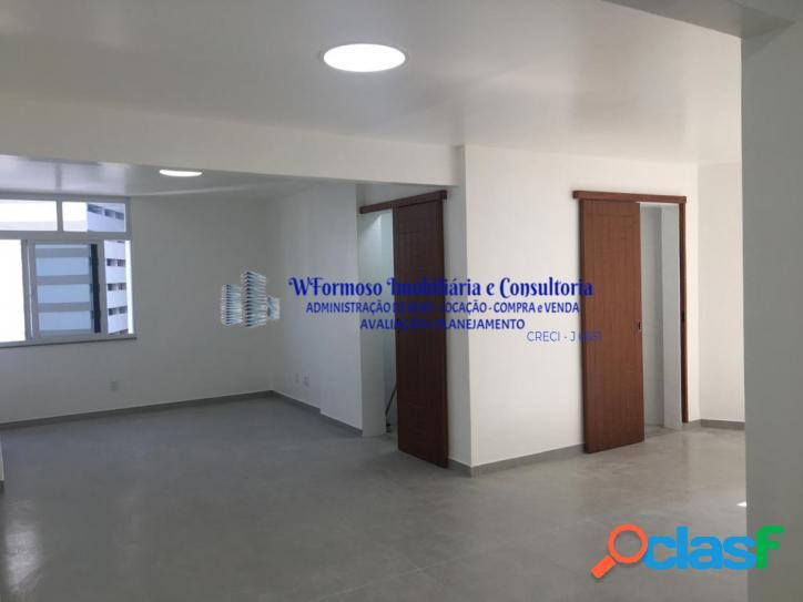 Sala comercial ampla recém reformada, Rua Evaristo da Veiga Centro