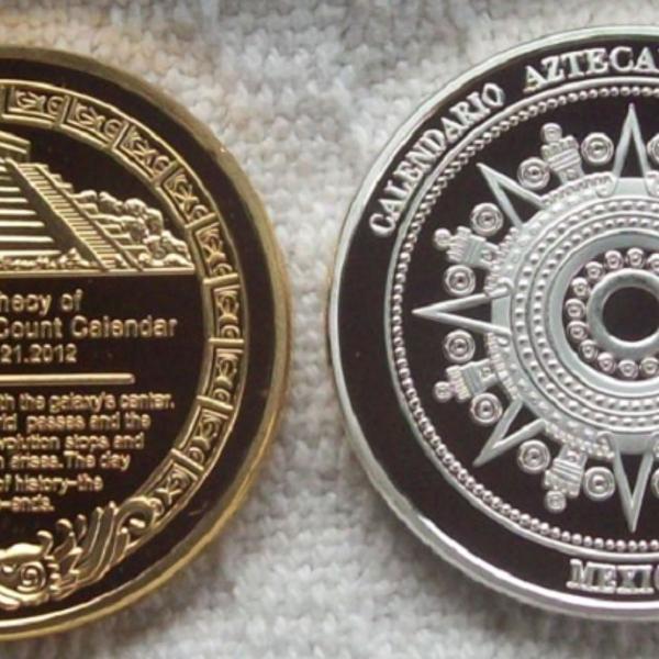 """4 medalhas / moedas do """"fim do mundo!"""" 21/12/2012 - maia /"""