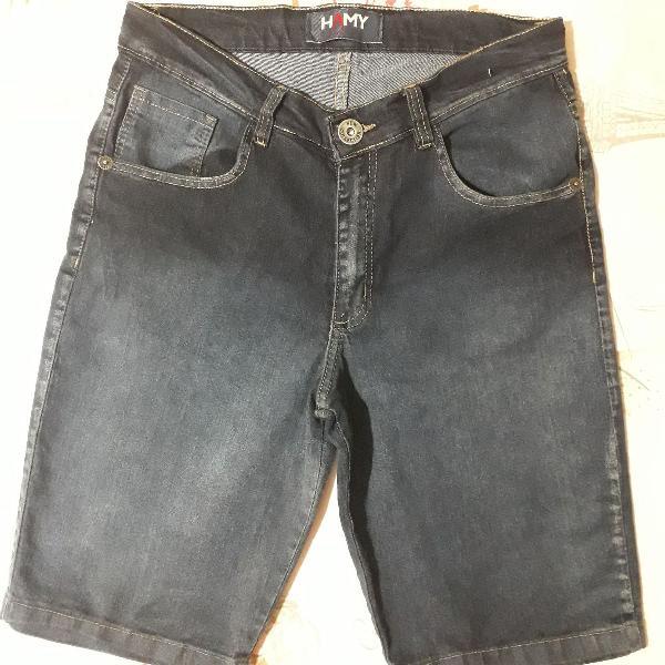 Bermuda jeans azul escura