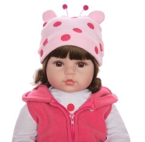 Boneca bebê reborn realista e acessórios