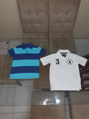 Camisas polo infantis de grife - 4 anos