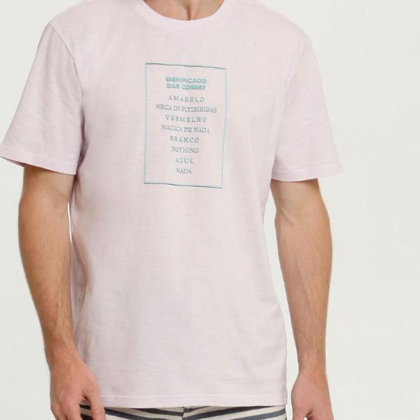 Camiseta masculina estampa frontal manga
