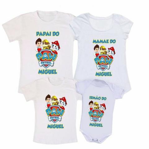 Camiseta personalizada, kit família - Básica + Baby Look +