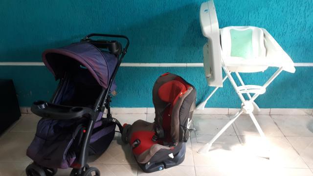 Carrinho + bebe conforto + banheira/trocador