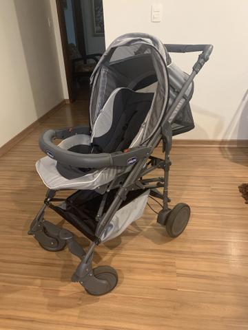 Carrinho de Bebê Chicco + Moisés e Baby Comforto