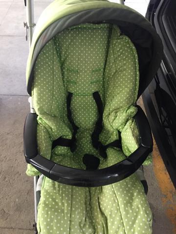 Carrinho de bebê e bebê conforto peg perigo