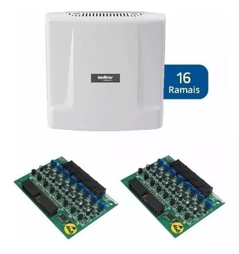 Central condominial comunic 16 intelbras + placas 8 ramais
