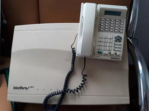Central telefonica pabx 141 e terminal intelbras ti 3130