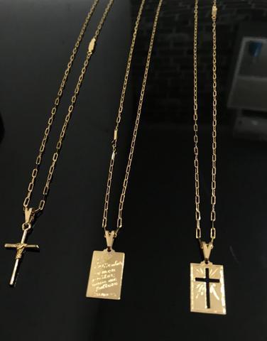 Cordão banhado a ouro R$ 40,00