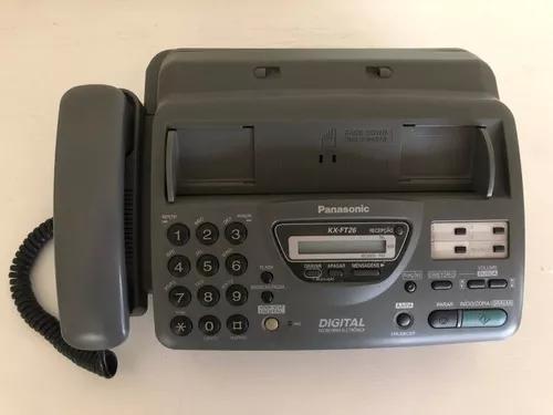 Fax / fone panasonic kx-ft26 digital secretária eletrônica