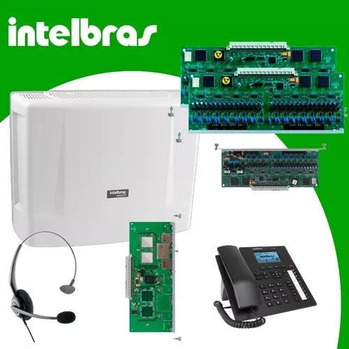 Kit central telefonica intelbras impacta 220 completa