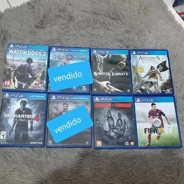 Lote 06 jogos ps4 ótimo estado, vendo separadamente.