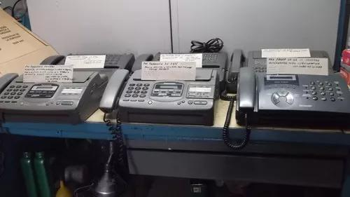 Lote com 6 aparelhos de fax panasonic, sharp e toshiba