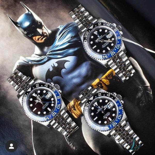 Relógio rolex batman importado linha prime 1 - top novo