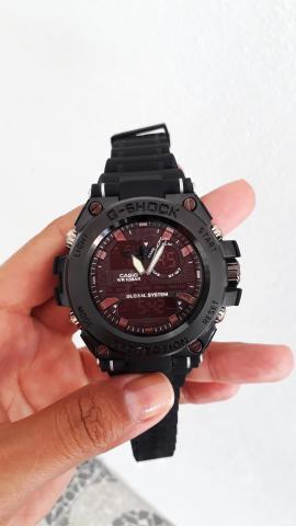 Relógio casio g-shock caixa de aço inoxidável