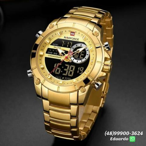 Relógios aço inoxidável - a prova d'agua!! naviforce