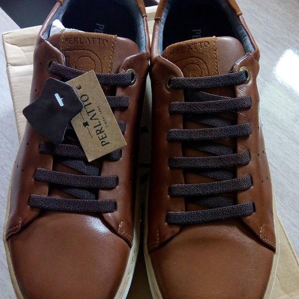 Sapato couro perlatto