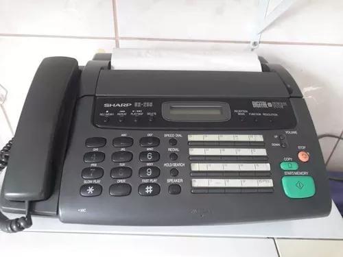 Secretária eletrônica fax fone sharp ux256 usado