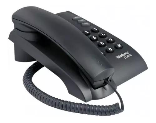 Telefone com fio intelbras pleno redial parede preto cinza