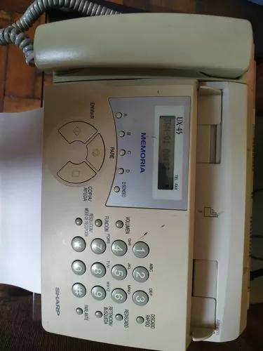 Telefone e fax sharp ux45